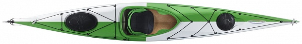 Lifestyle 444 ExpeditionRudder WhiteGreen top