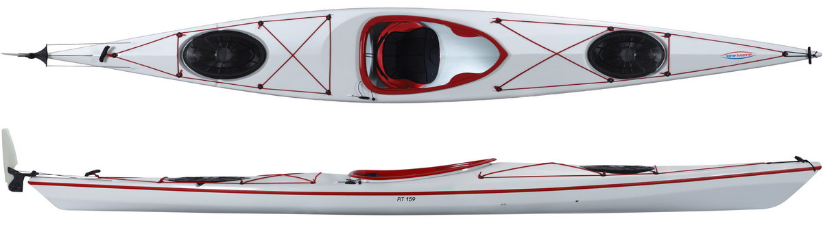 Fit 159 ExpeditionRudder White